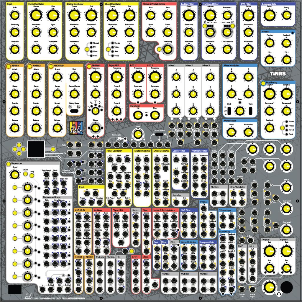 Fenix IV modular synthesizer – TINRS
